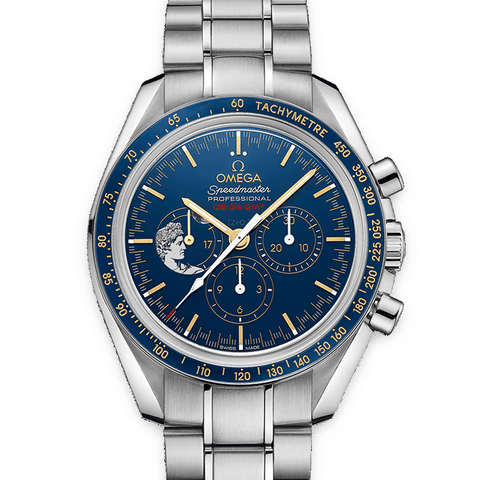 OMEGA Watches Speedmaster Moonwatch Apollo XVII Chronograph 31130423003001 Discount by ZAPANDA.com