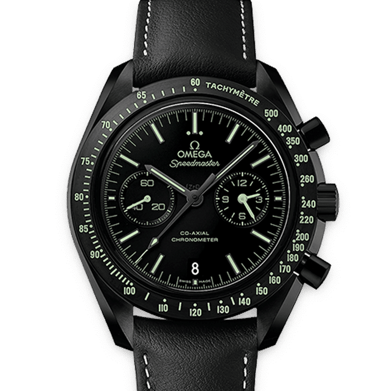 OMEGA Watches Speedmaster Moonwatch Pitch Black Chronograph 31192445101004 Discount by ZAPANDA.com