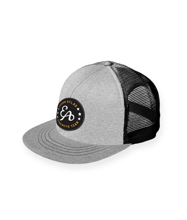 EA Strength Patch Trucker Hat - Heathered Grey/Black