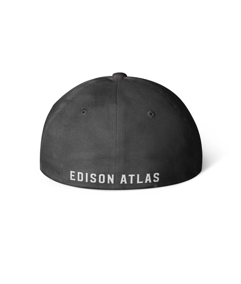 EA Logo Fitted Hat - Midnight Black