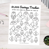 Visual Savings Tracker Printable (Spring Theme)
