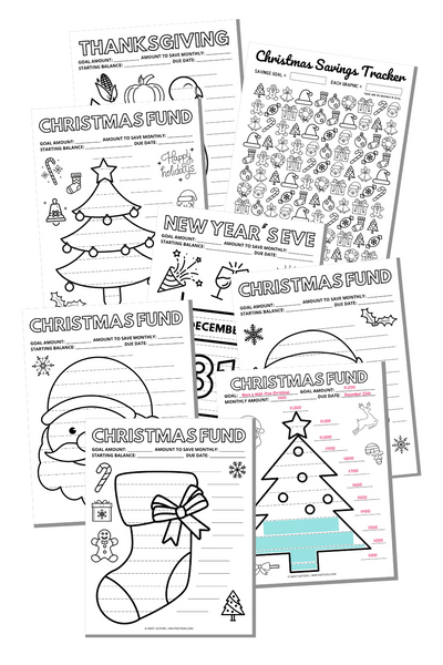 Christmas Savings Trackers Bundle (Printables)