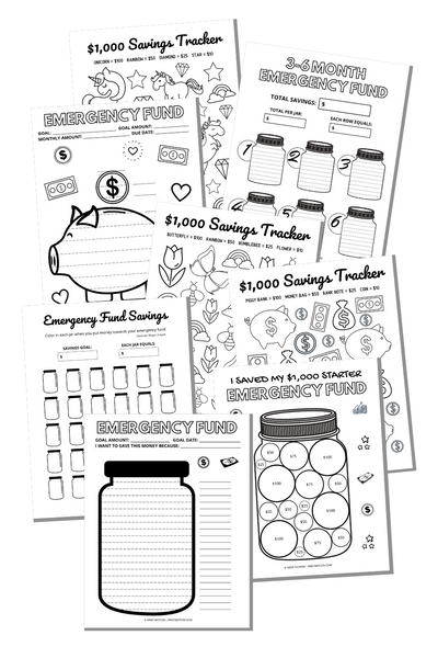 Emergency Fund Trackers Bundle (Printables)
