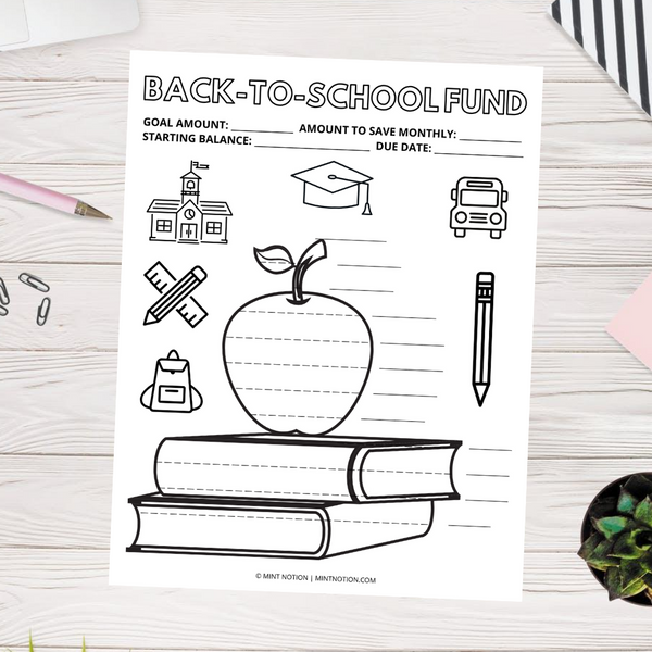 Back-To-School Sinking Fund (Printable)