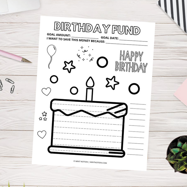 Birthday Fund Savings Tracker (Printable)
