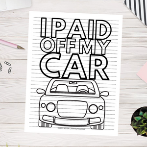 I Paid Off My Car Progress Chart (Printable)