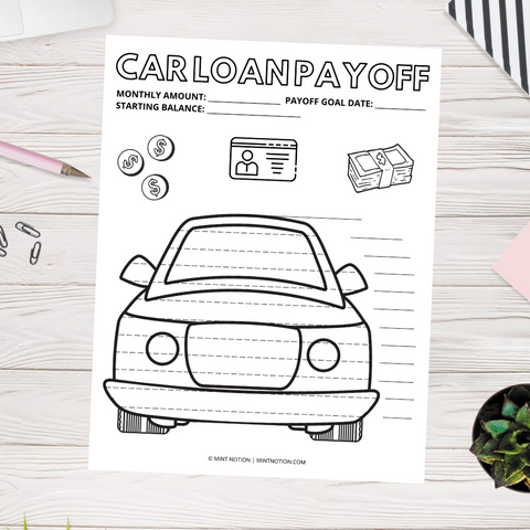 Car Loan Payoff Chart (Printable)