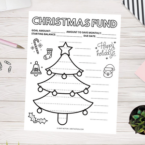Christmas Savings Tracker - Tree (Printable)