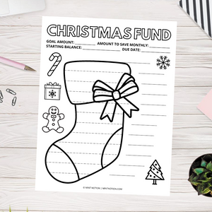 Christmas Savings Tracker - Stocking (Printable)