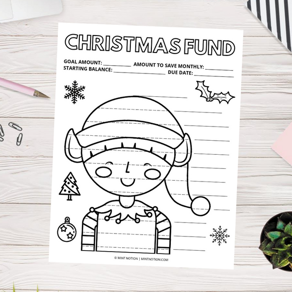 Christmas Savings Tracker - Elf (Printable)