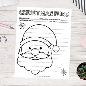 Christmas Savings Tracker - Santa Claus (Printable)