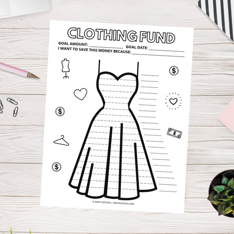 Clothing Savings Tracker (Printable)