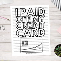 I Paid Off My Credit Card Progress Chart (Printable)
