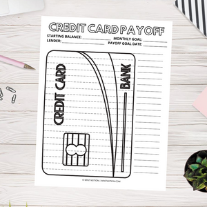Credit Card Debt Payoff (Printable)