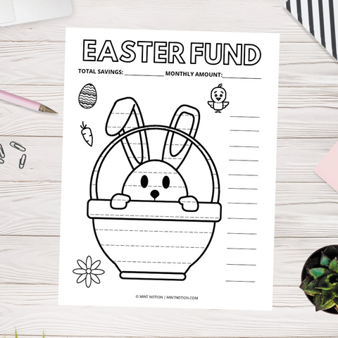 Easter Bunny Savings Tracker (Printable)