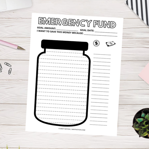 Emergency Fund Jar (Printable)