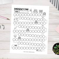 Emergency Fund Savings Tracker Printable (Pirate Treasure)