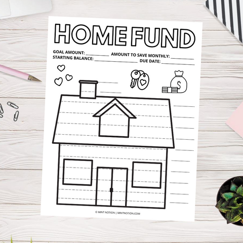 House Sinking Fund Tracker (Printable)