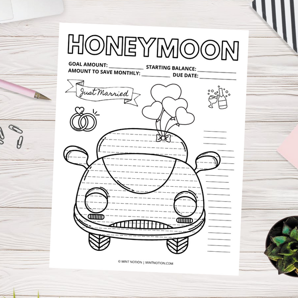 Honeymoon Savings Tracker (Printable)
