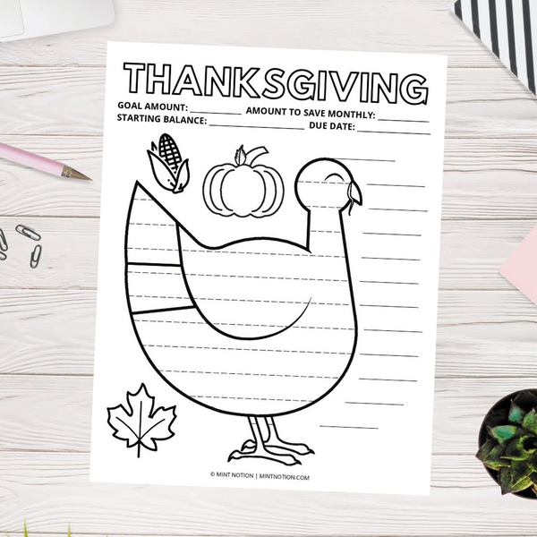Thanksgiving Savings Tracker (Printable)