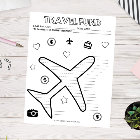 Travel Savings Tracker (Printable)