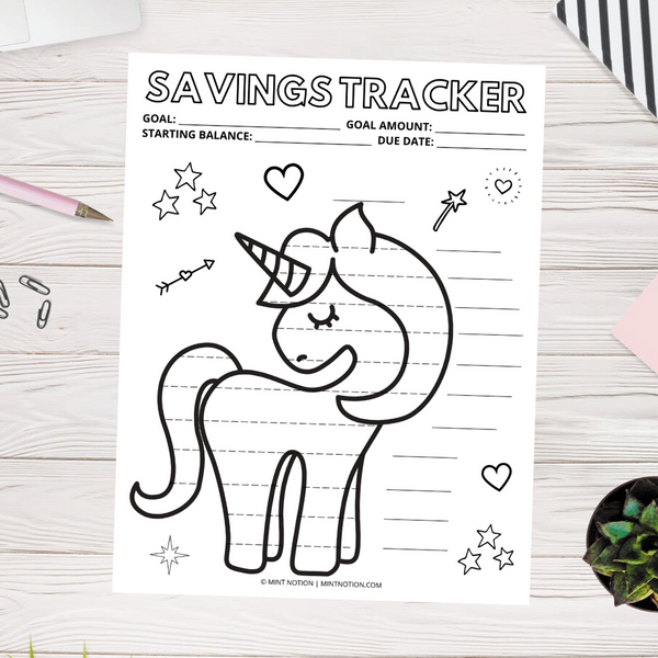 Unicorn Savings Tracker (Printable)