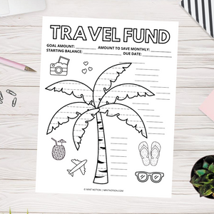 Vacation Savings Tracker (Printable)