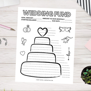 Wedding Fund Savings Tracker (Printable)