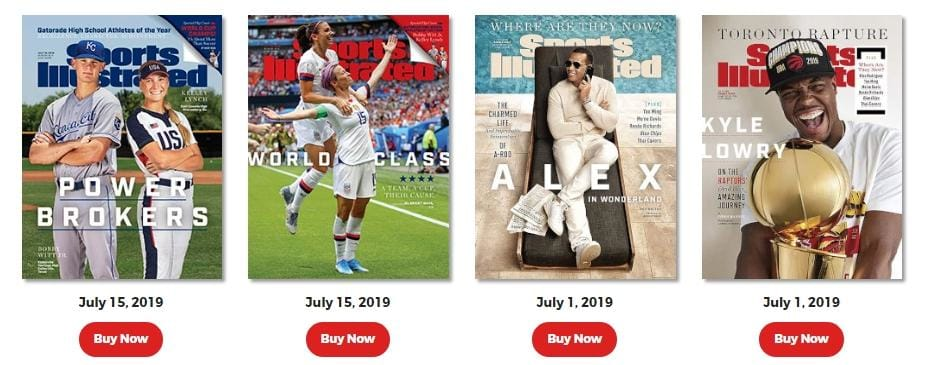 back issues of sports illustrated magazine