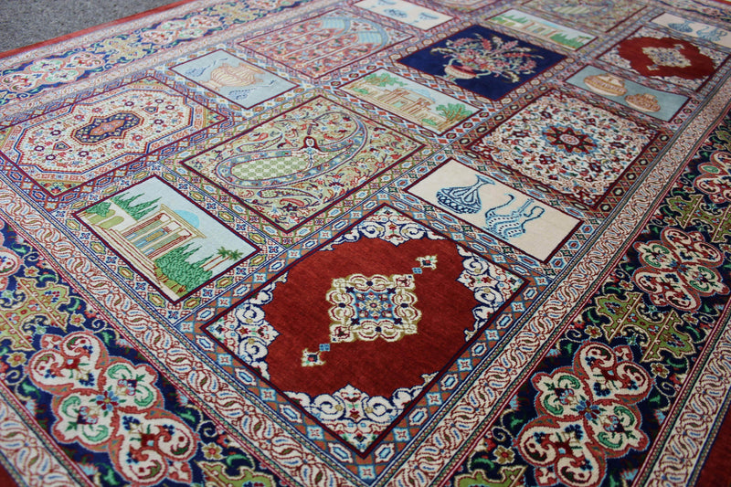 Garden Design in Pure Silk by Master Moshajari