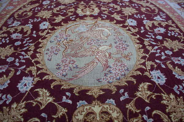 Love Birds Tabriz Rug