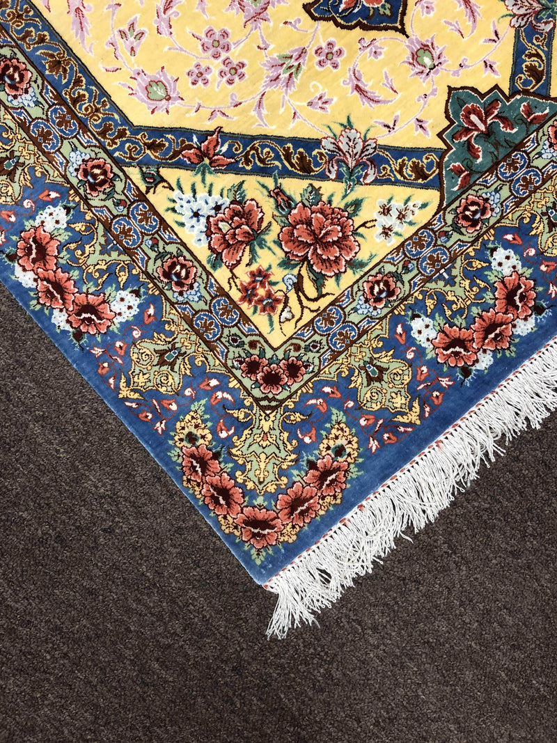 Magnificent Silk Rug by Master Alizadeh