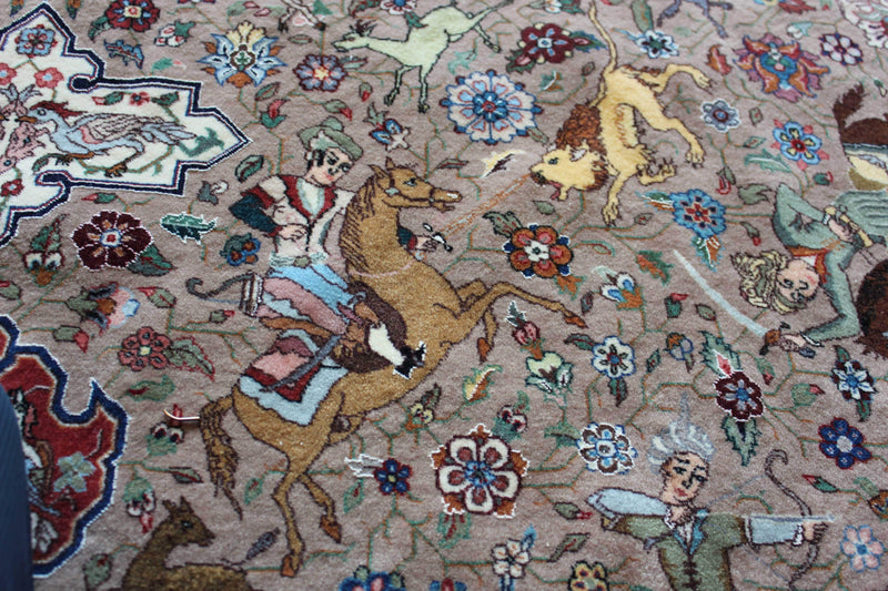 Safavid Hunting Scene Design by Alabaf
