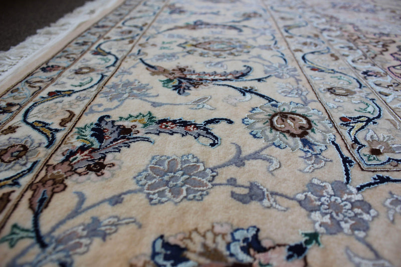 Very Fine Isfahan with Silk Accents