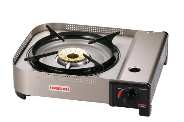 Iwatani High-Powered Portable Butane Stove in Silver - 15,000 BTU/hr