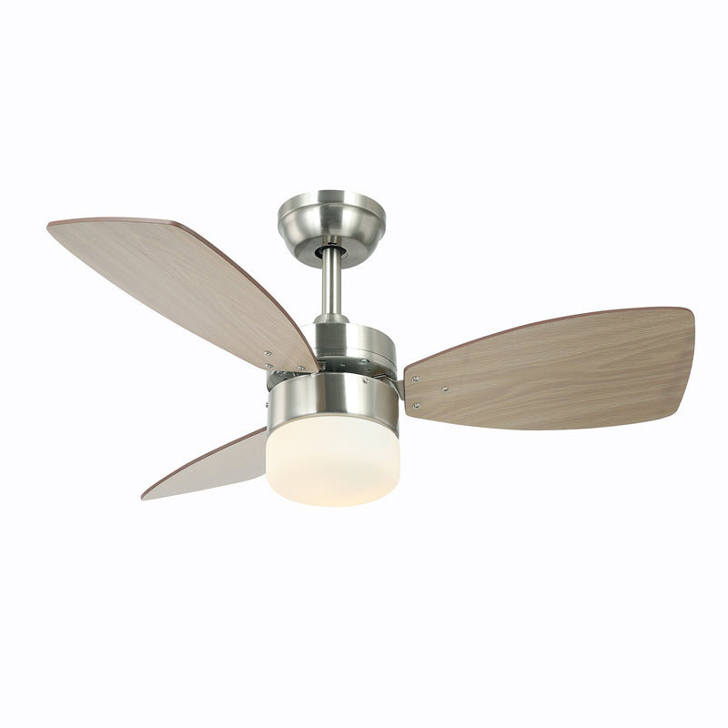 36 Inch Smart Alexa Ceiling Fan Work with Alexa and Google Assistant for Kitchen and Bedroom, Dual-Finish Wood Blades and White Glass lampshade