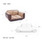 Stark Dog Sofa Brown