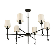 Canyon Home 6-Shade Chandelier Light