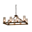 Canyon Home Kitchen Island Glass Lamp Chandelier
