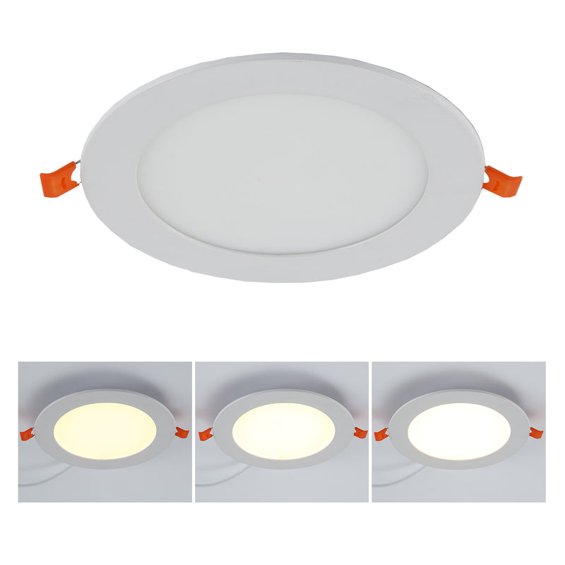 6-in White Integrated LED Recessed Downlight 4pack
