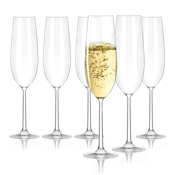 Creativeland LEAD-FREE CRYSTAL Champagne Flutes Glasses
