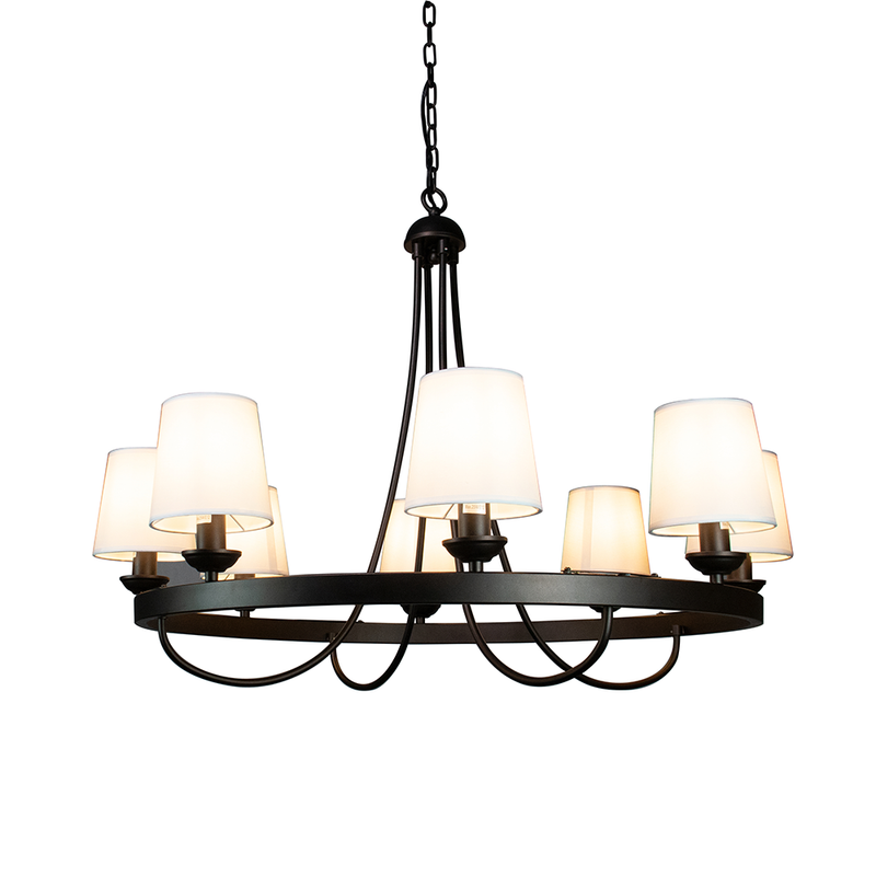 Hansen 8 Light Fabric Shade Chandelier