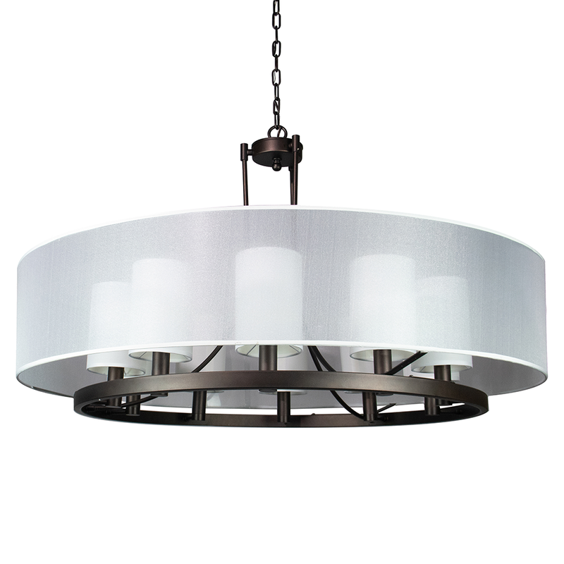 Rayes 10 Light Drum Chandelier