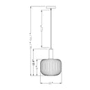 Astin Fluted Glass Pendant Light