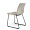 Eric Modern Dining Chair with Matte Black Steel Legs for Kitchen, Living Room and Dining Room (Set of 2, Upholstered Seat)