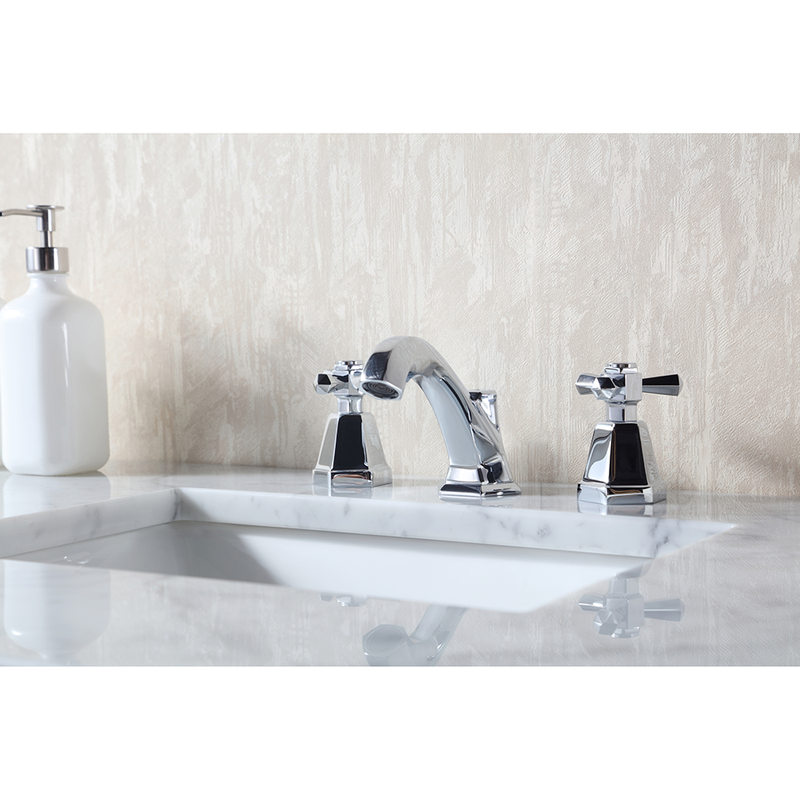 Atreus 48 inch White Single Sink Vanity with Carrara Marble Top