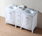 60 inch Locke White Double Sink Vanity with Carrara Marble Top