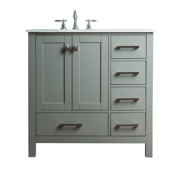 36 inch Malibu Grey Single Sink Bathroom Vanity