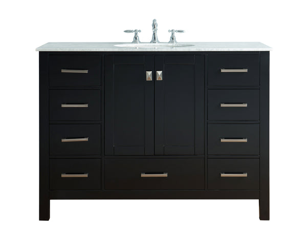 48 inch Malibu Espresso Single Sink Bathroom Vanity