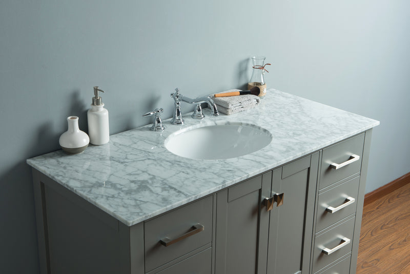 48 inch Malibu Grey Single Sink Bathroom Vanity